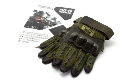 Перчатки PMX-26 TACTICAL PRO Green укороченные M