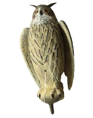 Филин большой с крыльями (серый)