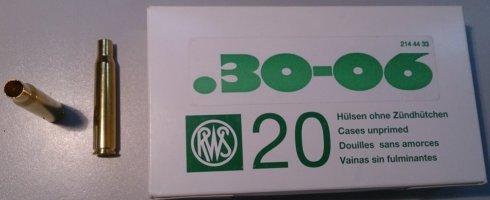 Гильза RWS латунная для патронов к. .30-06 (10шт)
