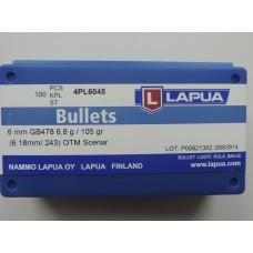 Пуля охотничья Lapua Scenar к. .243 HPBT (6.8g/105gr) (10шт)