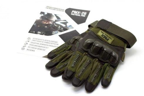 Перчатки PMX-26 TACTICAL PRO Green размер XXXL